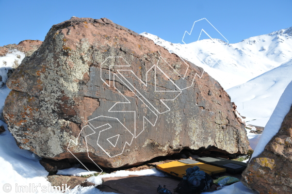 photo of Quicky  from Oukaimeden Bouldering Morocco
