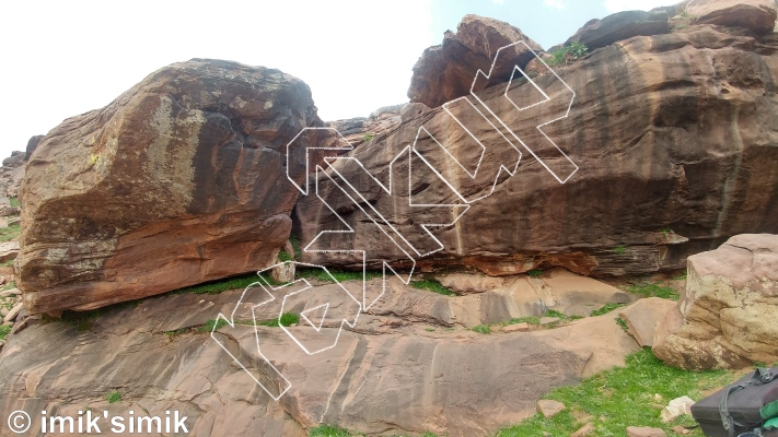 photo of Mental Mantel from Oukaimeden Bouldering Morocco