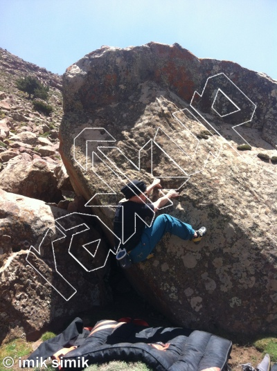 photo of Papillion from Oukaimeden Bouldering Morocco