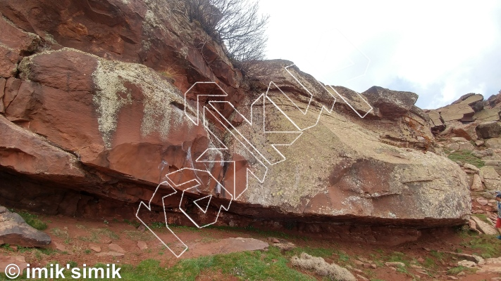 photo of Spaceship from Oukaimeden Bouldering Morocco