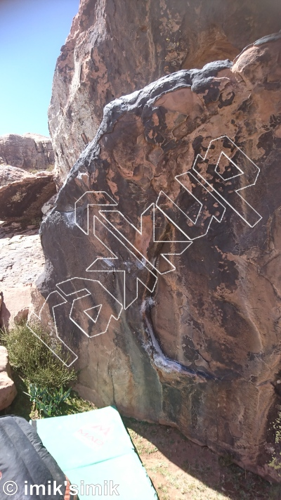 photo of Baby Talk from Oukaimeden Bouldering Morocco