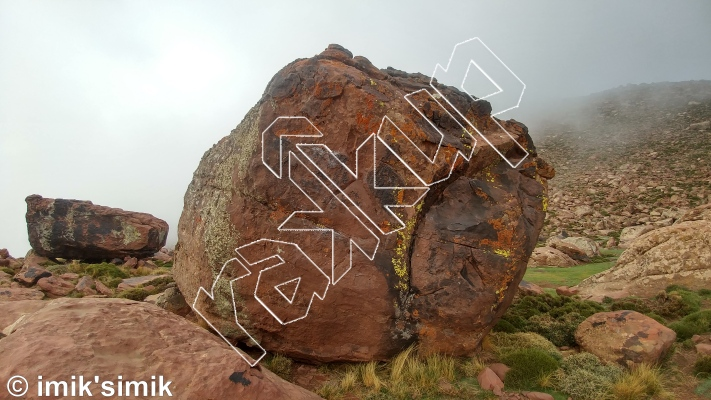 photo of Cloud Rider from Oukaimeden Bouldering Morocco