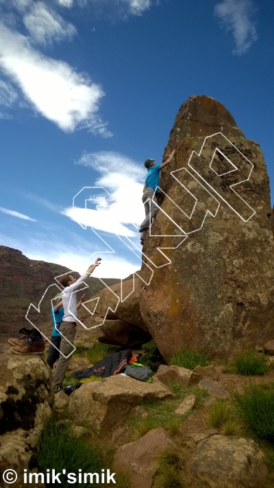 photo of The Game from Oukaimeden Bouldering Morocco