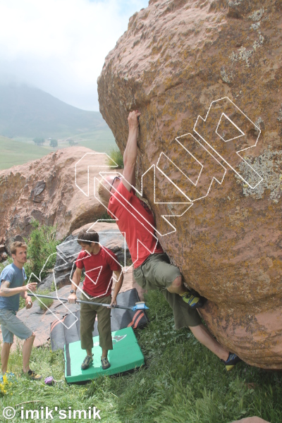 photo of Hugs for Free from Oukaimeden Bouldering Morocco