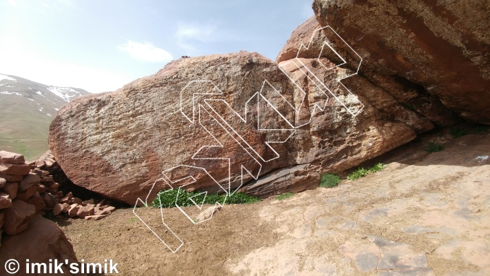 photo of Alien from Oukaimeden Bouldering Morocco