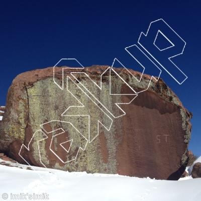 photo of Kort lontje from Oukaimeden Bouldering Morocco