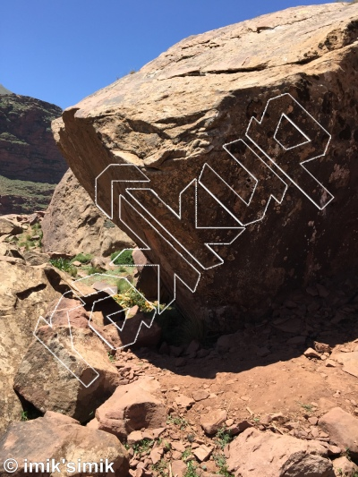 photo of Monkey Gym from Oukaimeden Bouldering Morocco