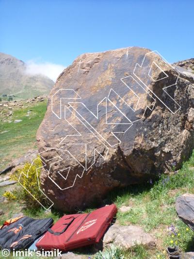 photo of Slabby from Oukaimeden Bouldering Morocco