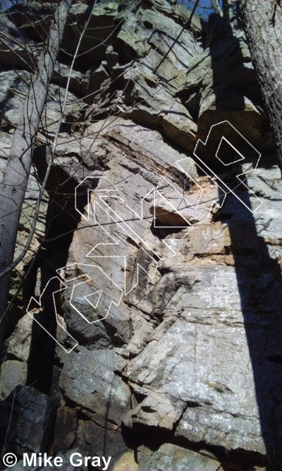 photo of Gypsies Wall from Reed's Creek