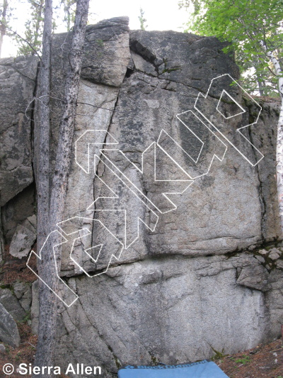 photo of Credit Card Boulder from Yukon Bouldering