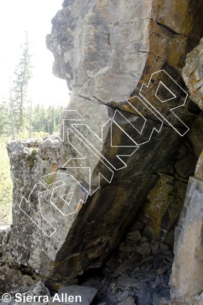 photo of Macrae East from Yukon Bouldering