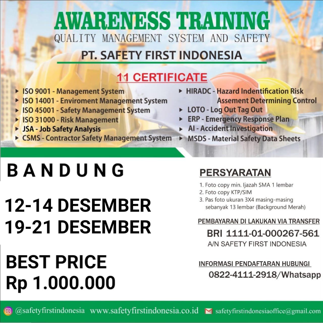 QMS Bandung Bulang Desember 2019