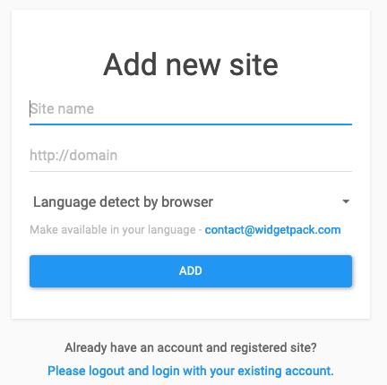 Add new site
