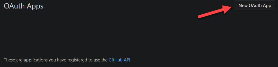New OAuth App