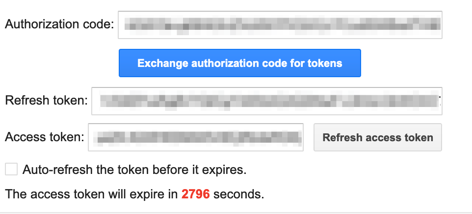 Exchange authorization code for tokens