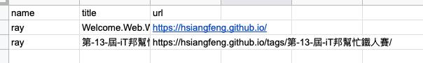 Google 試算表