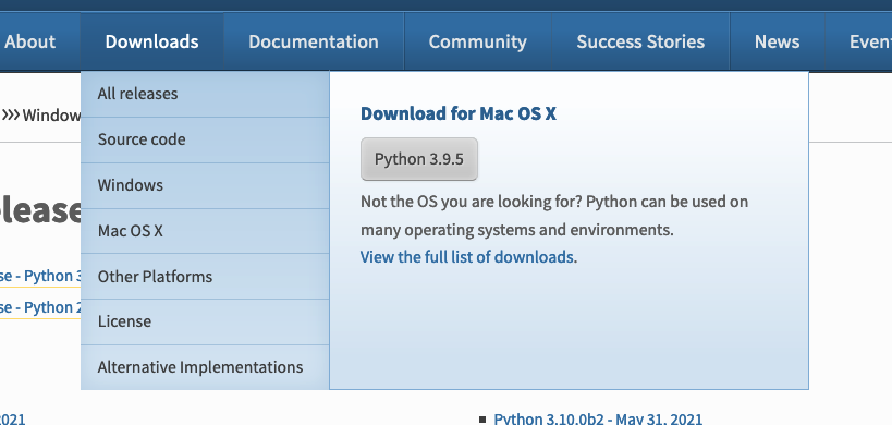 安裝 Python