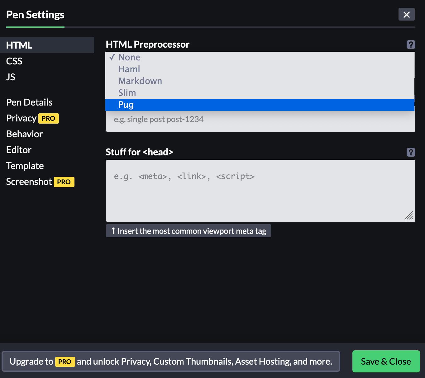 HTML Preprocessor