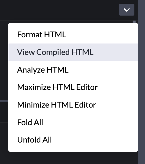 View Compiled HTML