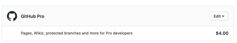 GitHub Pro