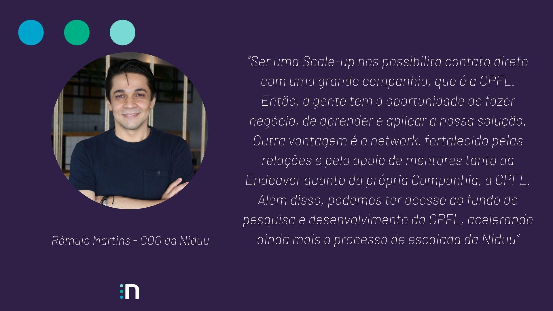Fala de Rômulo Martins, COO da Niduu sobre o Scale-Up Endeavor 2019