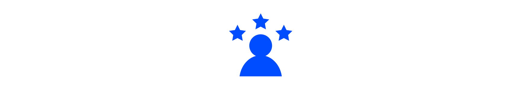 Human figure with star icons around them