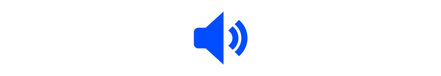 Audio icon projecting noise