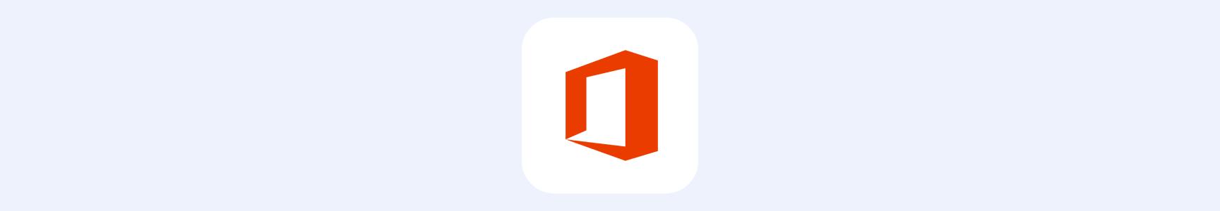 Microsoft Office banner