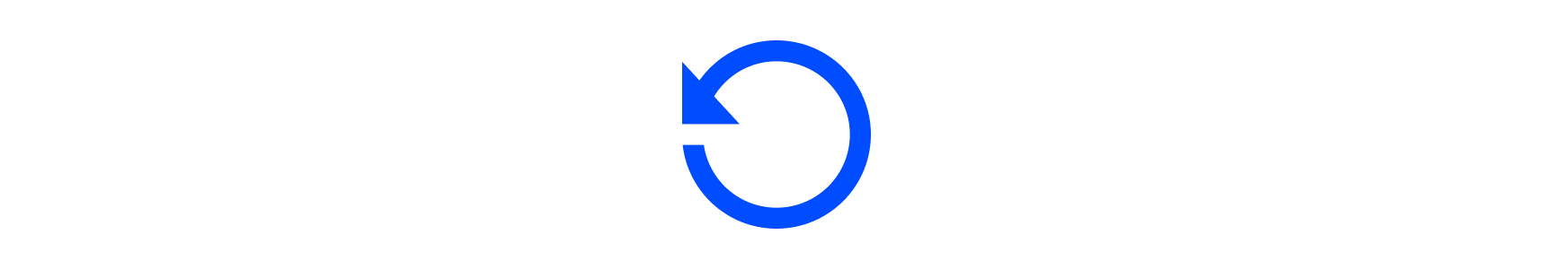 Refresh icon of arrow in circle