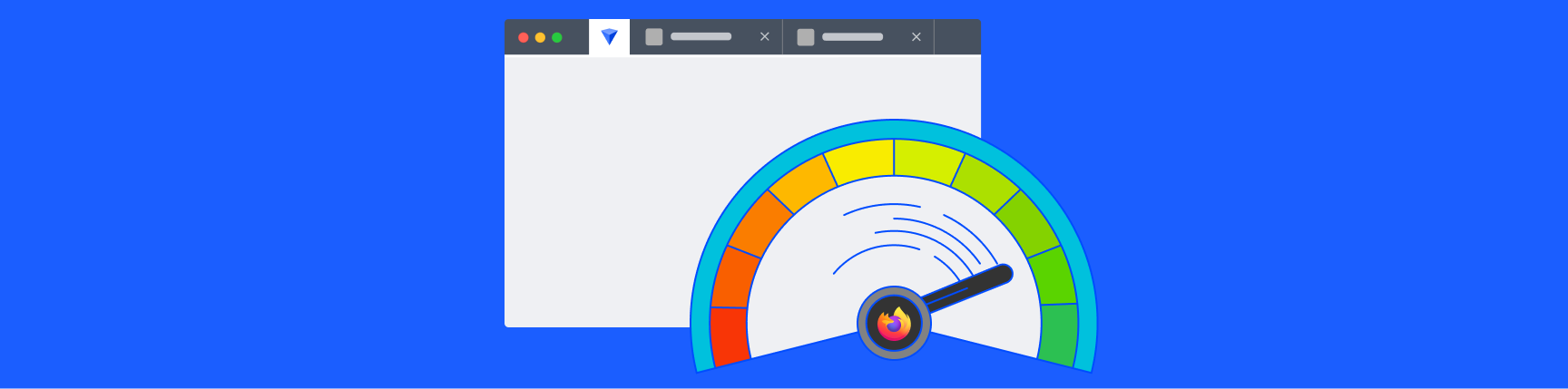 Firefox logo inside a meter showing memory usage