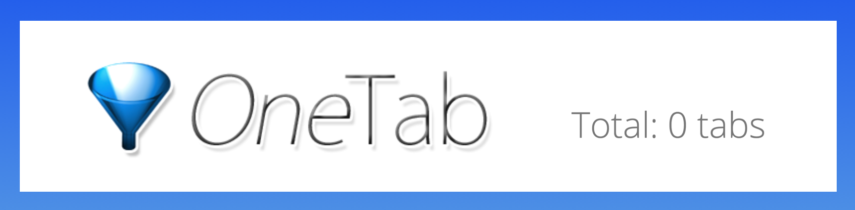 OneTab extension lost all tabs