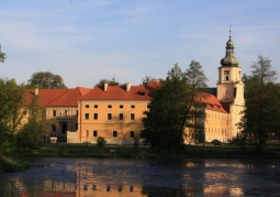 Post-communist monastery and palace complex in Rudy