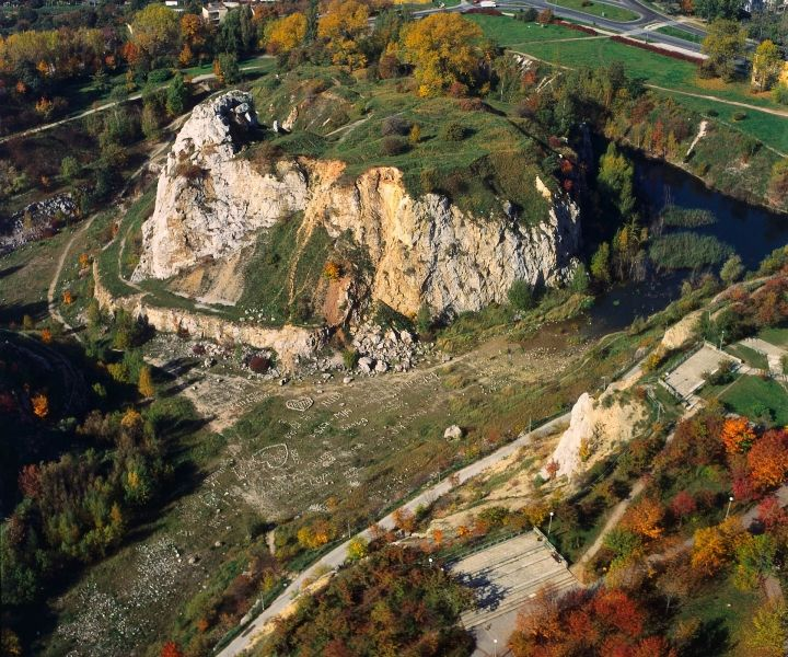 Rezerwat Kadzielnia z lotu ptaka