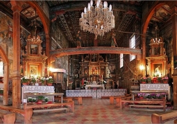 Bogate wnętrze kościoła