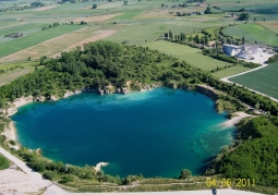 Aerial view of the quarry