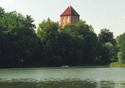 Wieża widziana zza Mołtawy Wielkiej