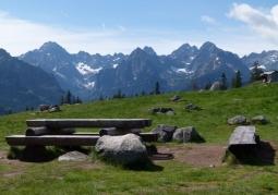 View of the High Tatras from Rusinowa Polana