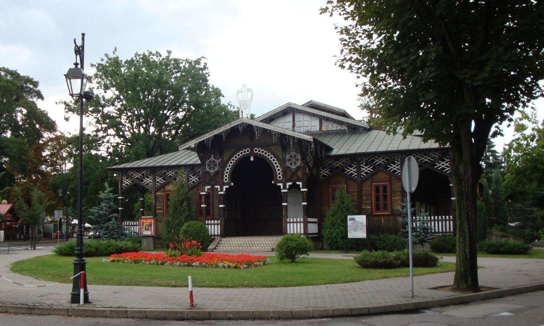 Drewniany budynek Teatru Letniego