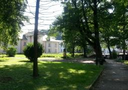 Park w centrum Iwonicza-Zdroju