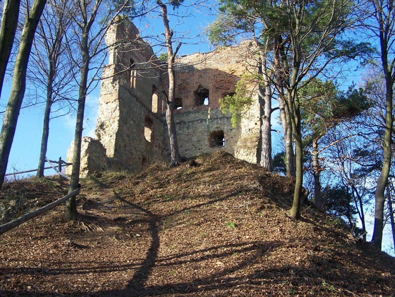 Ruiny wieży zamkowej z końca XIV wieku