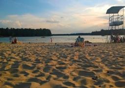 Plaża główna Przyjezierze