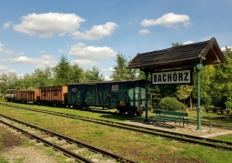 Bachórz station of the narrow gauge railway