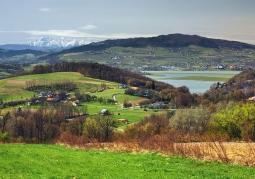 Pogórze Rożnowskie widok na tatry