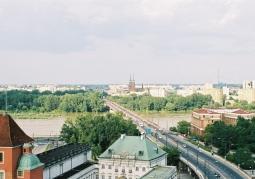 Widok z wieży widokowej kościół Św. Anny