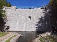 Wodospad Wilczki zapora wodna