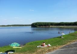 Kąpielisko - południowa strona jeziora - Jezioro Maziarnia (Zalew Wilcza Wola)