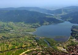 Jezioro z lotu ptaka