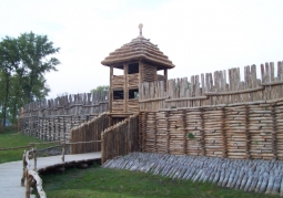 Gate of the reconstructed settlement