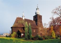 Drewniany zabytkowy kościół - Bachlawa