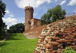 Ruiny zamku od strony wejścia